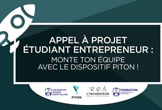 Visuel appel à projet PITON et Fondation USMB